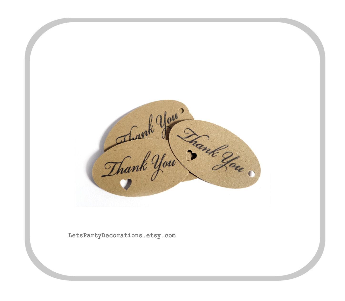 Favor tags wedding small oval favor tags heart punch thank for Small tags for wedding favors