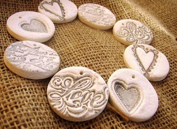 Wedding Gift Ornaments: Items Similar To Salt Dough Wedding Gift Tags