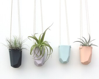 slip cast porcelain hanging crystal planter