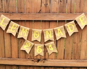 Country/Rustic Lemonade Stand Banner