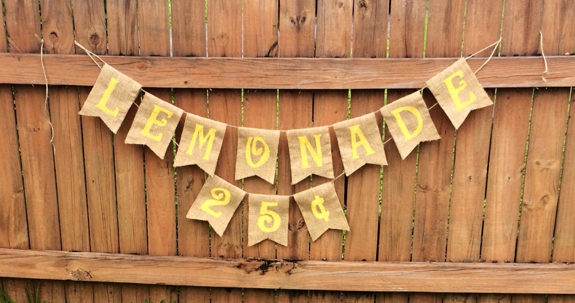 Country rustic lemonade stand banner for Rustic lemonade stand