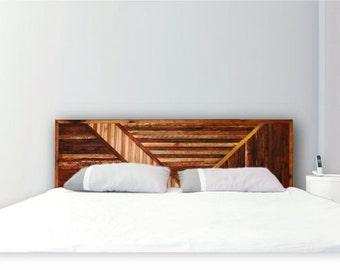 Abstract Art Deco Style Headboard in wood.