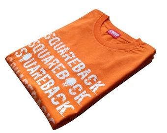 Rock Climbing T-shirt Crimp Squareback Orange