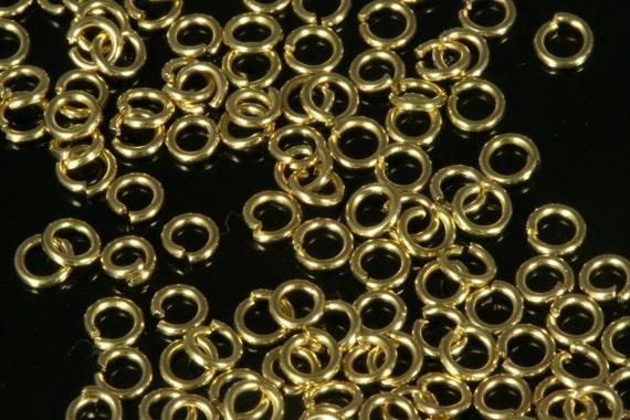 Open jump ring 1000 pcs 3 mm 24 gauge( 0,5 mm )  raw brass jumpring 324JR-14