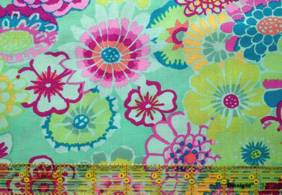 ASIAN CIRCLES GP089 GreenKaffe Fassett Collectives Sold in 1/2 yd increments