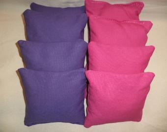 Cornhole bags Purple and Pink corn hole bean bags 8 ACA Regulation bean bags