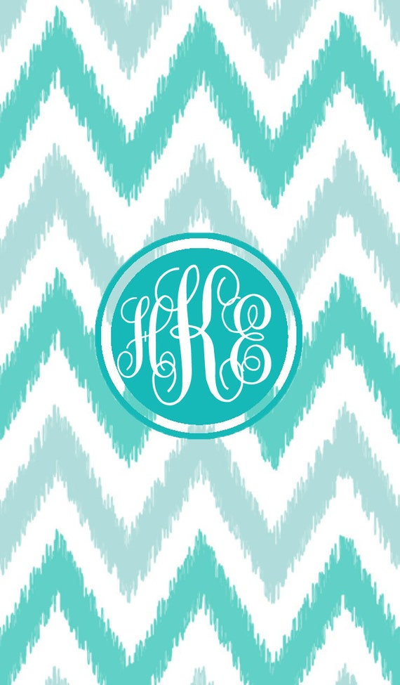 items similar to iphone monogram wallpaper chevron print