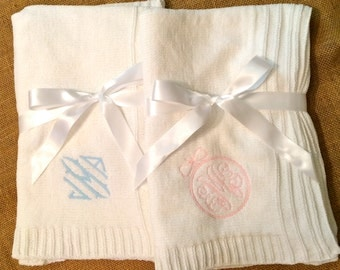 Baby Blanket- extra soft with monogram