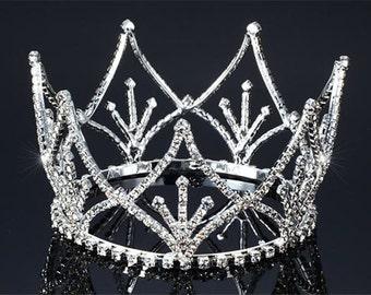 Exquisite Rhinestones Crystal Photo Prop Baby Tiara Crown (510)