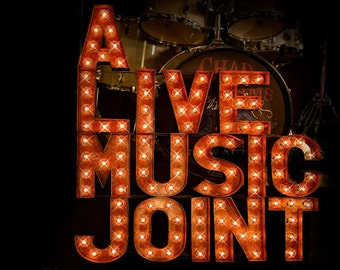 Music Venue Sign, Custom Marquee Sign,  Custom Signs, Marquee Letter, Marquee Letter, Vintage Style, Music Venue Sign Package in Block Font