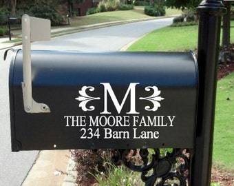 Personalized Monogram Custom Wedding Mailbox Decal