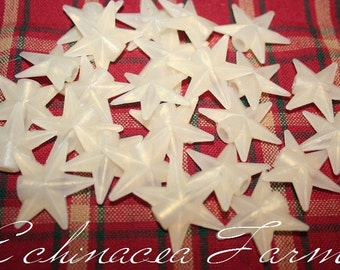 25 Silicone Star Light Covers - String Lights -  Primitive Country Cottage Crafts Garland Ornaments Embellishment Wreath Christmas Holiday