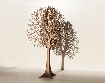 Lasercut Wooden Tabletop Tree #1   LARGE