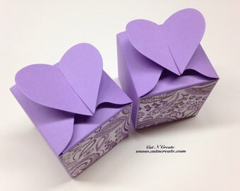 Purple Favor Box Purple Favors Purple Wedding Purple Paisley