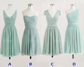 mint bridesmaid dresses, short bridesmaid dresses, chiffon bridesmaid dresses, cheap bridesmaid dresses, 1400309