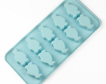 10- Cavity Little Penguin Molds Cake Mold Mould Silicone Mold Biscuit Mold Chocolate Mold Soap Mold