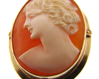 10K Yellow Gold Victorian Cameo