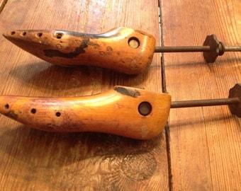 Antique Wooden Shoe Stretchers  Set of Two. George E.  Belcher