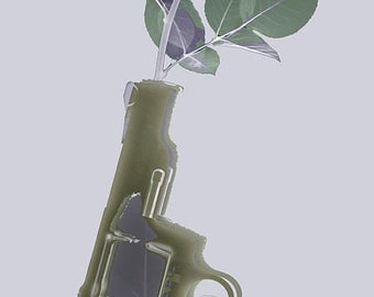 Hand Gun and Flower X-Ray Series 1 - Giclee Print