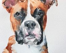 "Dog portrait, 11"" x 15"" original watercolor painting, custom dog painting, dog art unique gift/present."