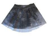 1<<= Moon Circle Skirt ~ Actual Photo Image Lunar Surface Digitally Printed Skater Skirt
