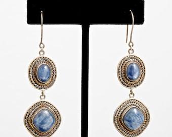 Kyanite 211 - Earrings - Sterling Silver & Kyanite