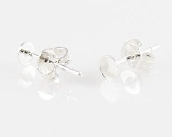 925 SILVER EARRING BACKINGS (5 Sets) -  Make your own Earrings (0.4cm x 1.3cm)