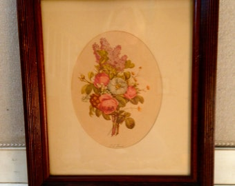 Beautiful Framed Floral Print Peonies
