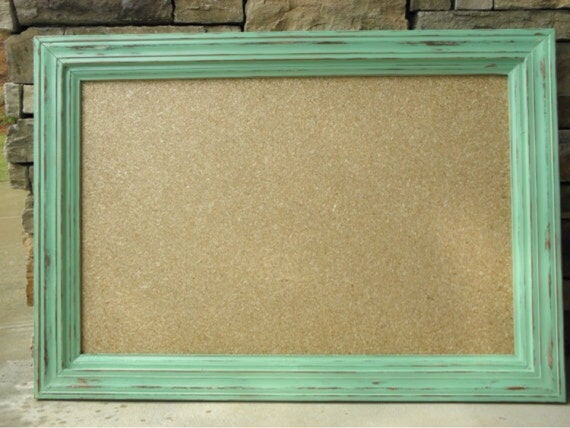 Items Similar To Rustic Framed Cork Board On Etsy