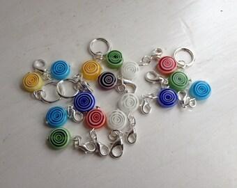 Circle glass bead stitch markers