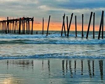 Beach Photography, Beach Sunrise Photo, Ocean Photo, Seascape Art, New Jersey Beach Photo, Office Art, Beach House Photo, Ltd. Edition