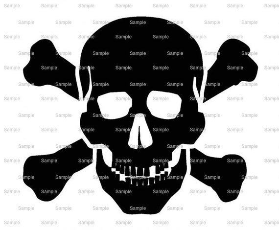 Pirate Skull & Crossbones Birthday - Edible Cake and Cupcake Topper For Birthday's and Parties! - D7925