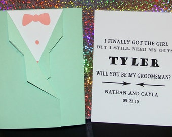 Will you be my Groomsman, best man, usher, page boy, ring bearer