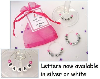 Personalised Hen Party Favours - Name Wine Glass Charms