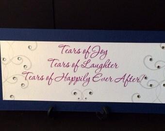 Tears of Joy Tissue Sign for Basket for Wedding Ceremony