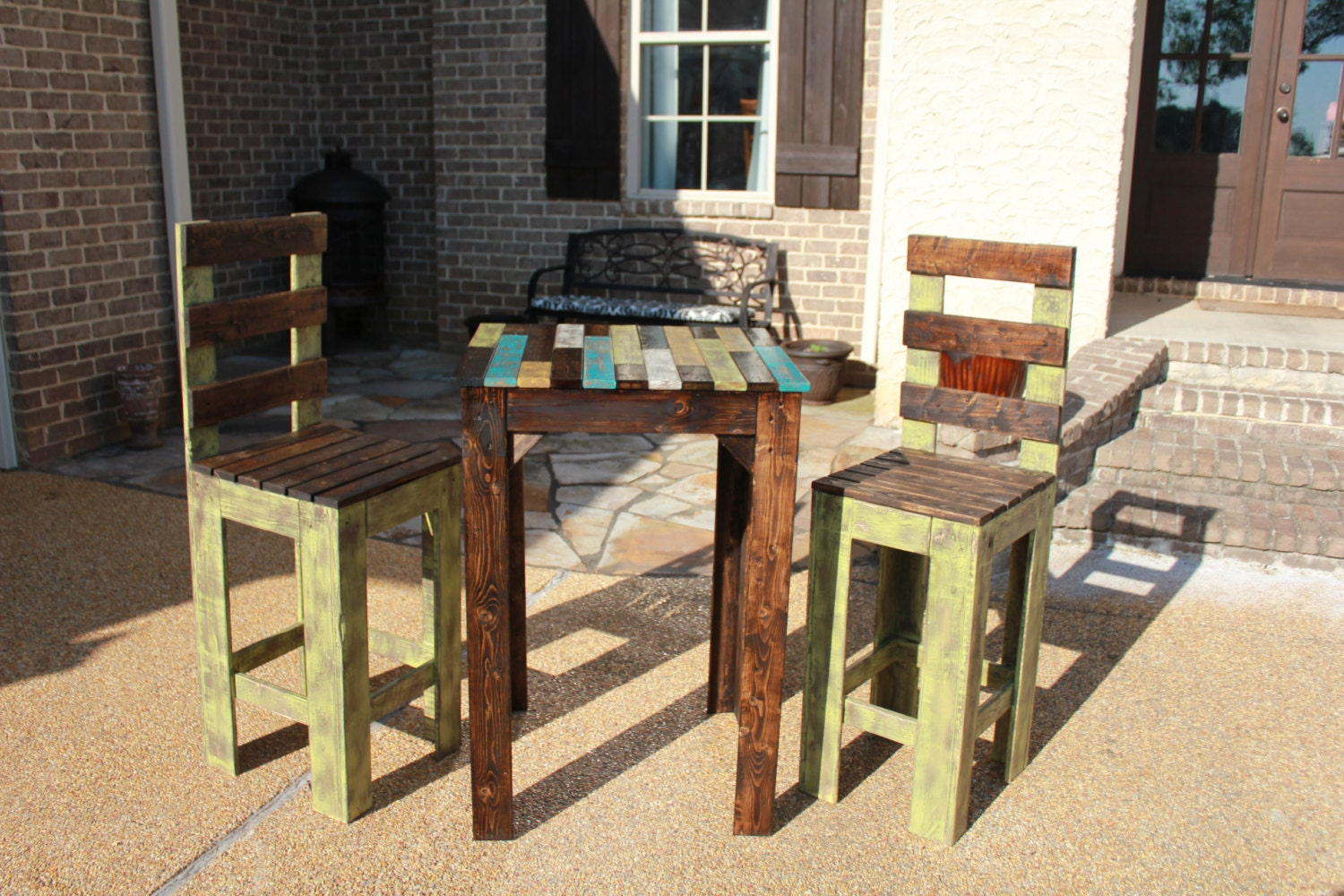 Rustic Farmhouse Bistro Table Set