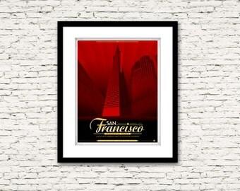 The Streets of San Francisco Series Transamerica Pyramid Poster 16x20