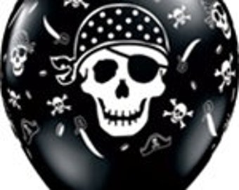 10 - Latex Pirate Balloons birthday party supplies