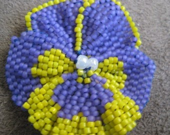 Beaded Flower - pansy