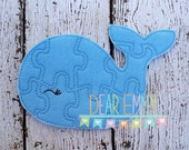 Blue Whale Felt Puzzle, Felt Game, Quiet Game, Felt Puzzle, Whale Puzzle, Birthday Party Favor, Felt Favor, Children's Toy