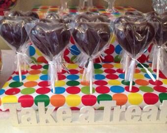 Chocolate Heart Shape Lollipops