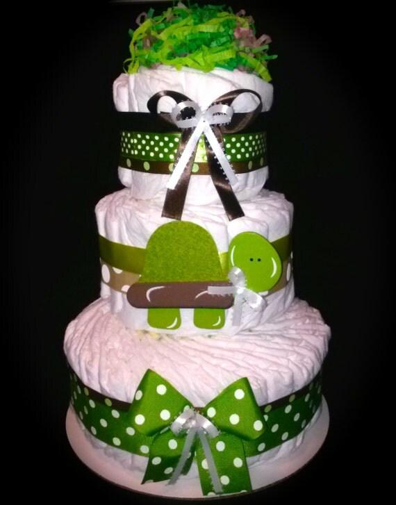 How To Make A Turtle Diaper Cake