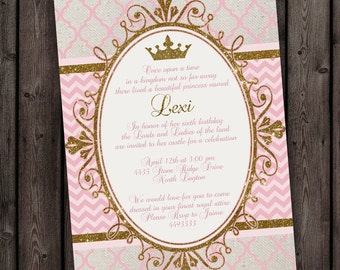 Royal Princess Party Invitations, tons to choose from, free customized wording, print as many as you want, quick ship