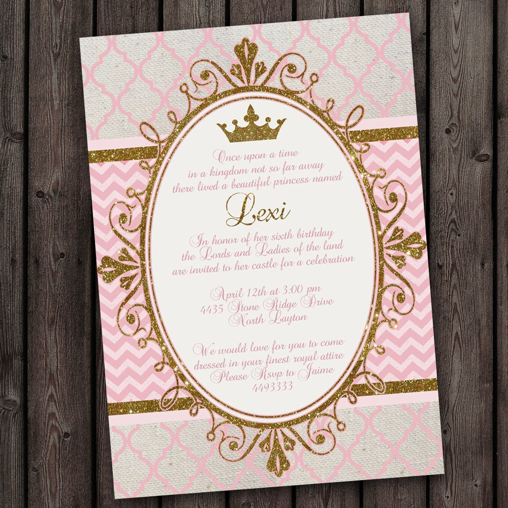 Royal Princess Party Invitations tons to choose from free