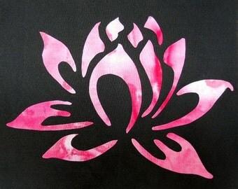 Easy Beautiful Lotus Flower Quilt Applique Pattern Design