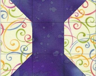 Spool Paper Piece Foundation Quilting Block Pattern