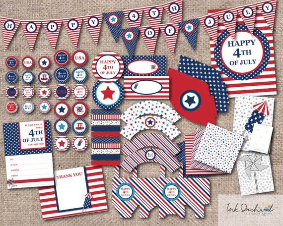 4th of July Printable Party Pack