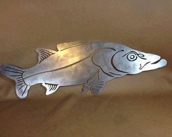 Snook Raw Steel Plasma Cut Art