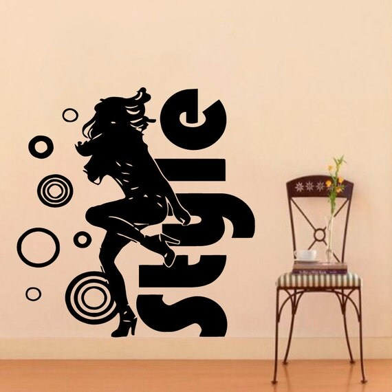 Sticker design studio create your own custom stickers - Wall Decals Beauty Salon Dancing Girl Decal Vinyl Sticker Home