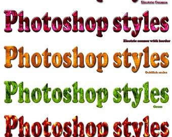 Photographic seamless Photoshop styles, Set 3.